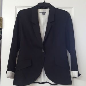 Vince. Pinstripe Lined Fitted Blazer